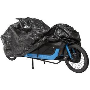 VK fietsbeschermhoes (14) COLOR classic zwart met print