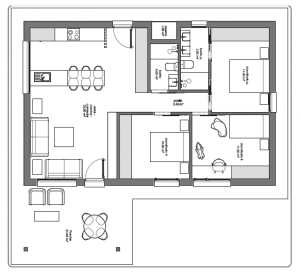 Planta vivienda-01 Casa santa marina - Cudillero