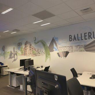 Ballerup-kunstværk i Nordea fillial