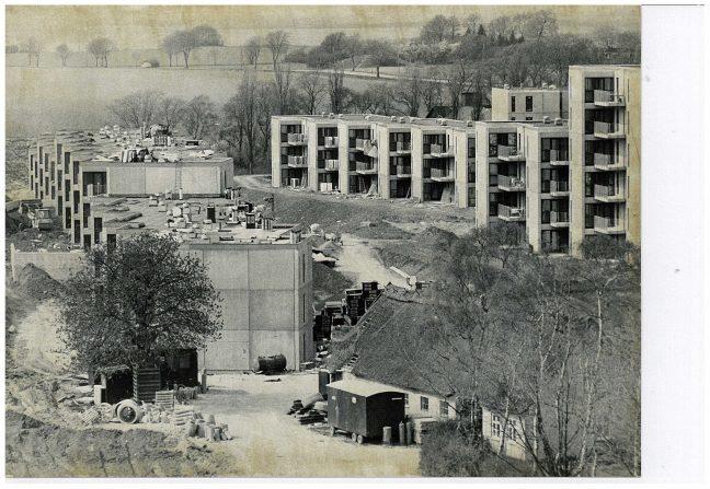 Højhuse under opbygning