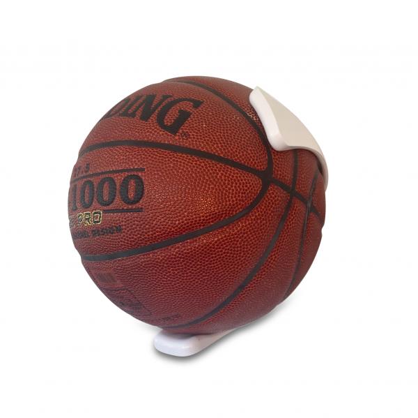 1 stk BallOnWall Hvid Basketballholder