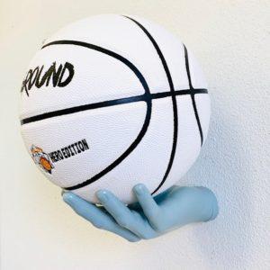 1 stk BallOnWall Fodbold Boldhånd i Lyseblå
