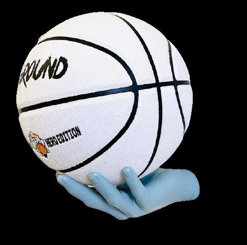 BallOnWall Basketball Boldhånd i Lyseblå