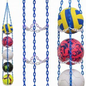 1 stk BallOnWall Hanger boldholder til 4 bolde - Blå & Hvid