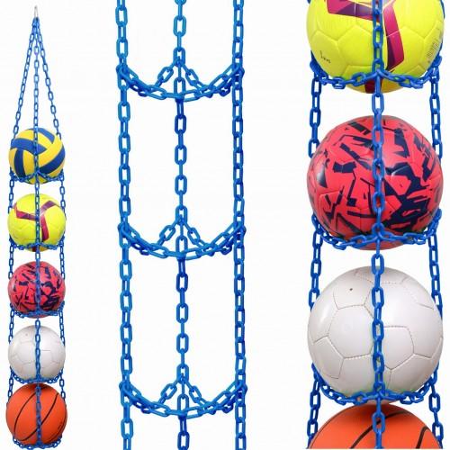 1 stk BallOnWall Hanger boldholder til 4 bolde - Blå