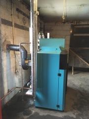 Pelletspanna 24 kW i Lövestad