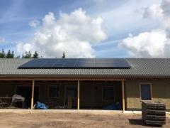 Solcellsanläggning 9,6 kWp i Tomelilla