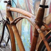 Close up Bamboo bike