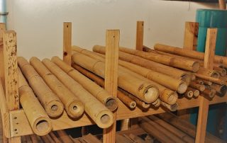 Bamboo storage for building bikes