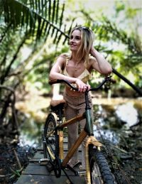 Marith Iedema on a bike tour in Bangkok