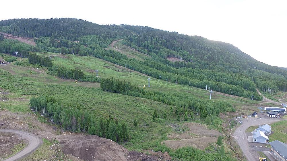 Ny lift og ny piste i det svenske skiområde Branäs
