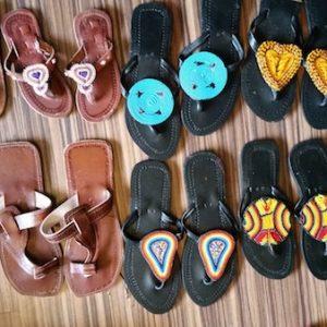 african slippers - bantu arts