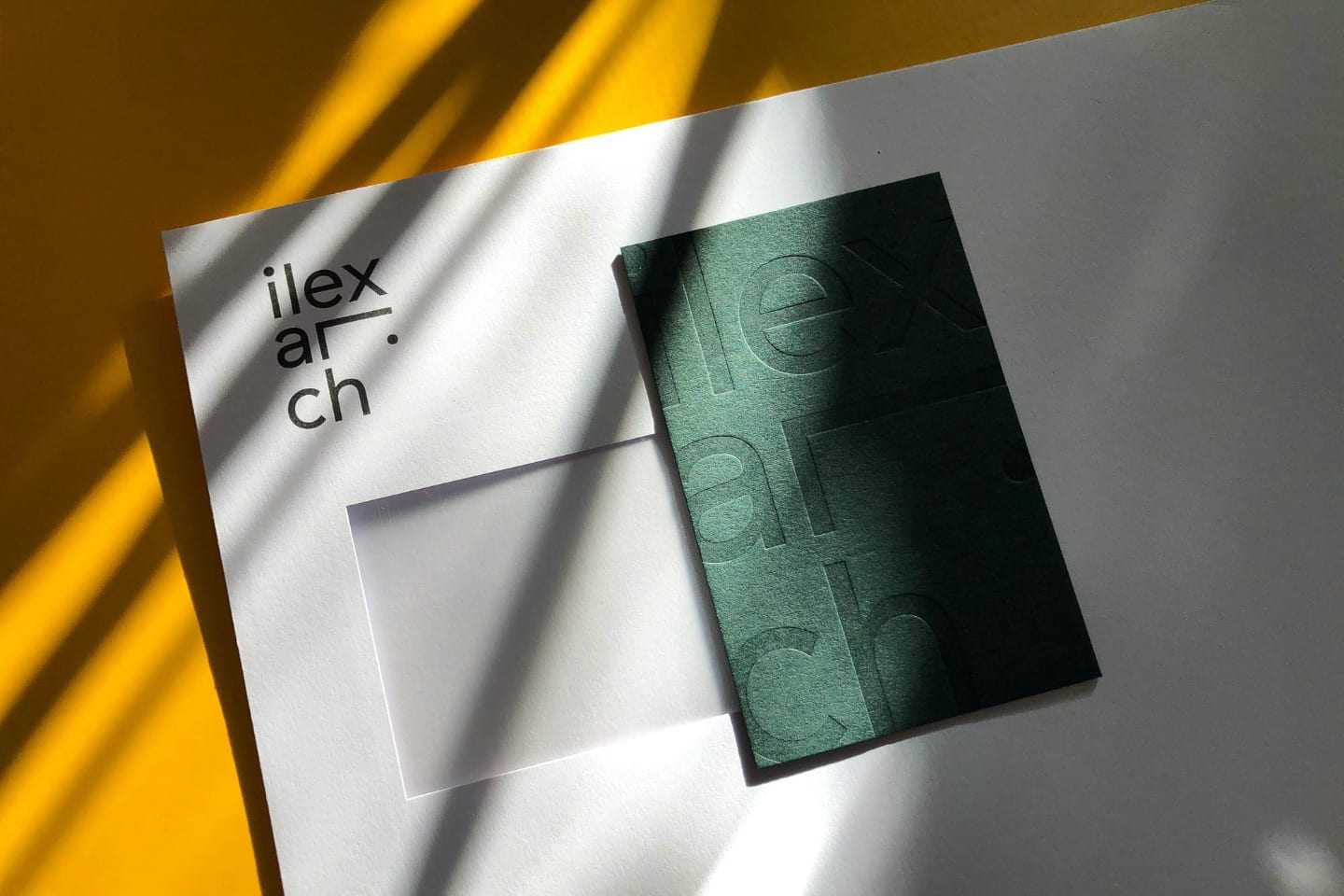 ilex-architects-envelope-and-business-cards