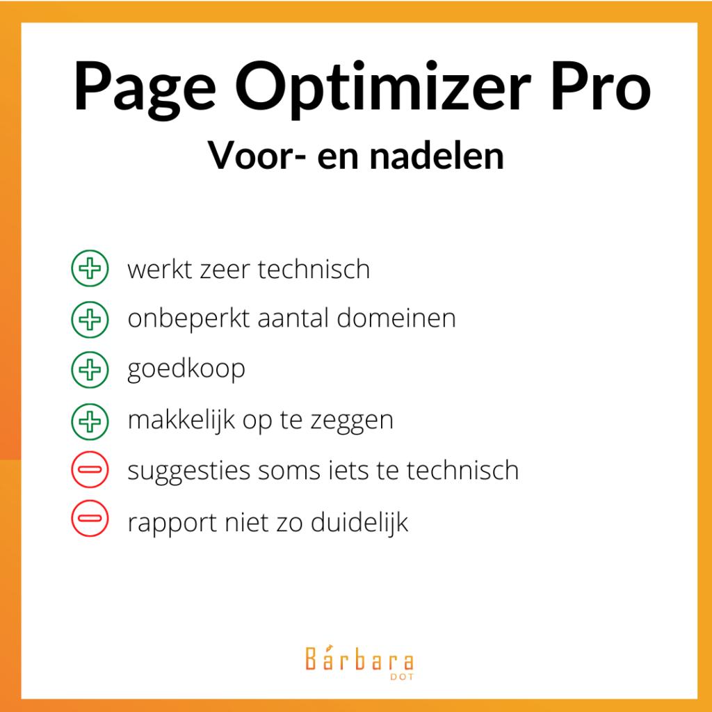 Page Optimizer Pro review - voordelen en nadelen