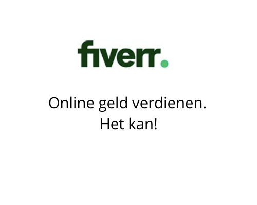 Online geld verdienen, banner voor Fiverr.