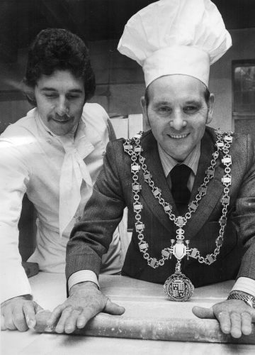 Barry Wilkinson Head Chef Walsall Town Hall 1978