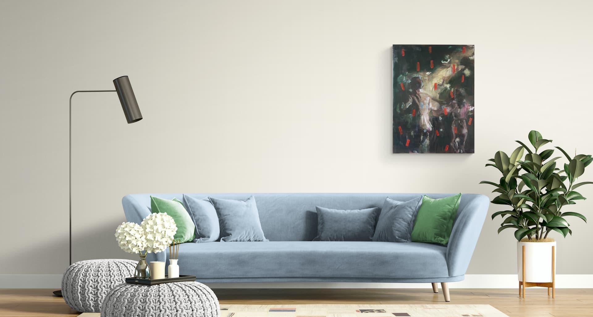 Unveiling a glimpse, oil on canvas 60 x 80 cm, 2019 - Bart Vinckier