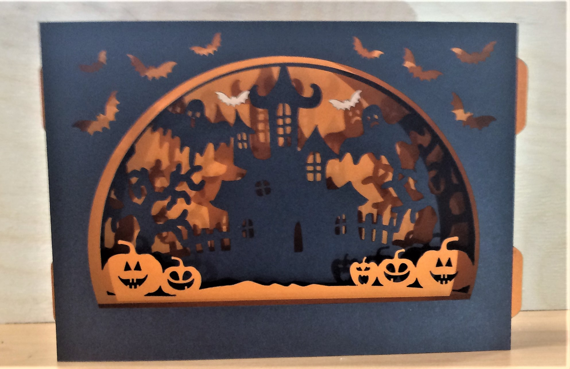 3D Halloween Box Card