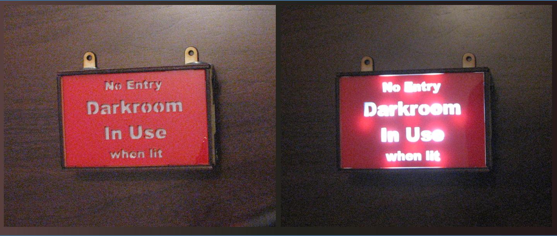 Darkroom Warning