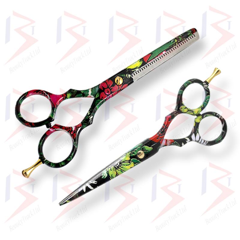 BeautyTrack Hairdressing Scissor Set Salon Shears 5.5 Stylish Design 3