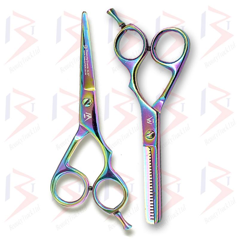 BeautyTrack Hairdressing Scissor Set Salon Thinning Shears Multi 5.5 Inch 3