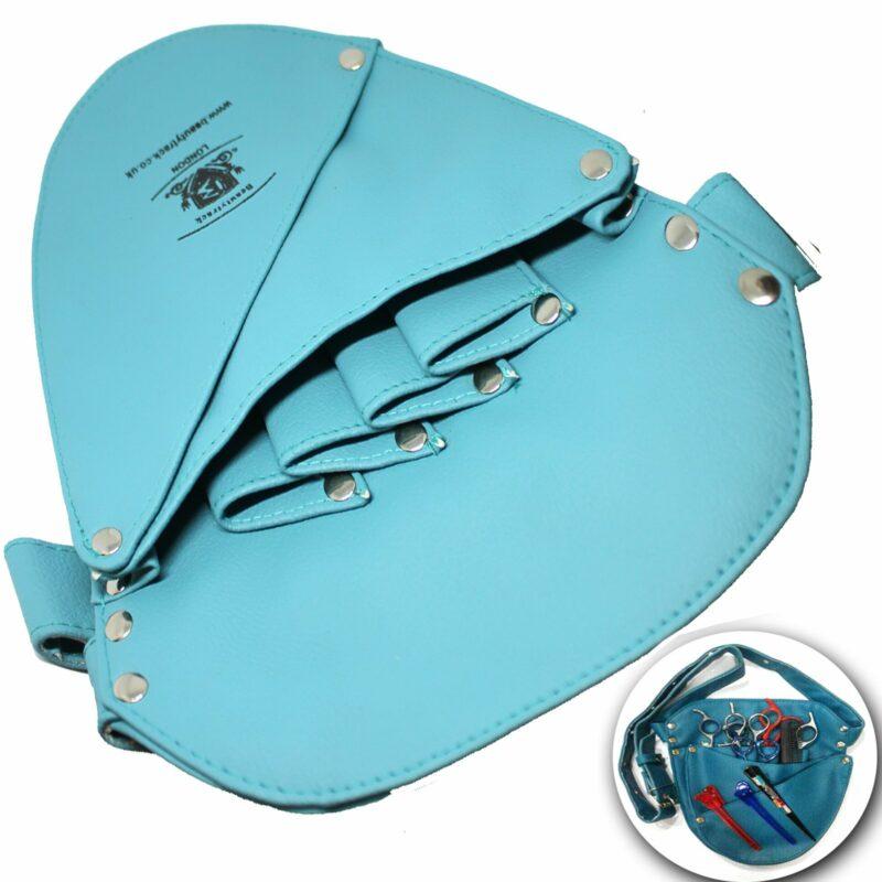 Hair Salon Barber Scissors Leather Holster Pouch Bag Ferozi 1