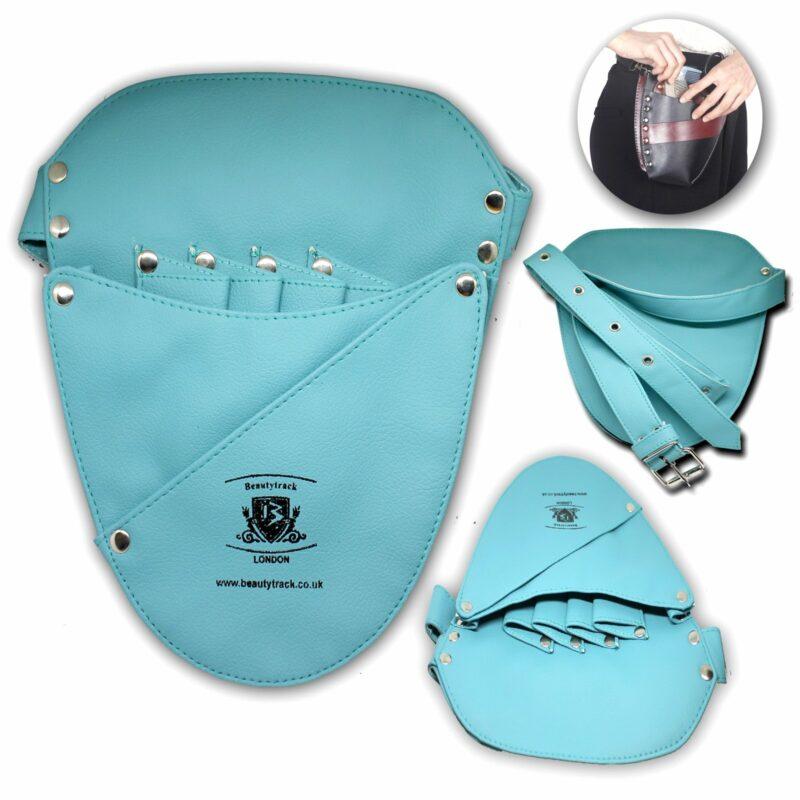 Hair Salon Barber Scissors Leather Holster Pouch Bag Ferozi