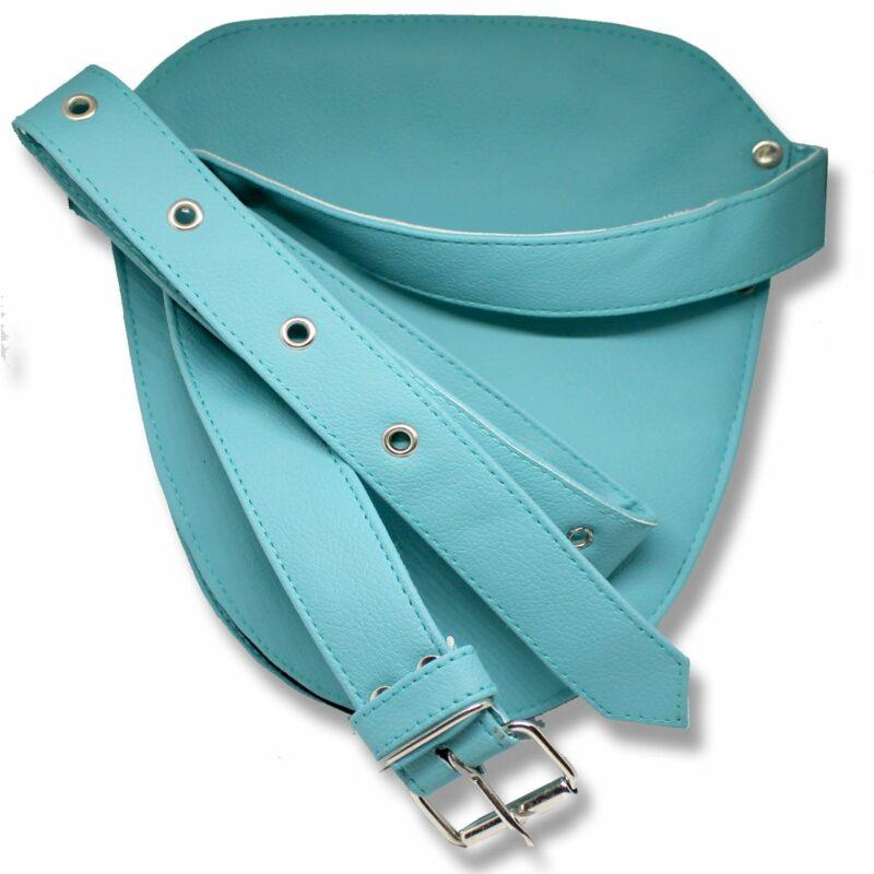 Hair Salon Barber Scissors Leather Holster Pouch Bag Ferozi back side