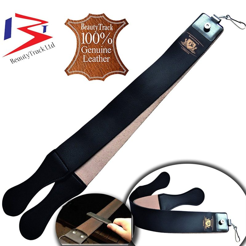 Wood Straight Razors Wet Shaving Cut Throat Razor Leather Strop Belt32
