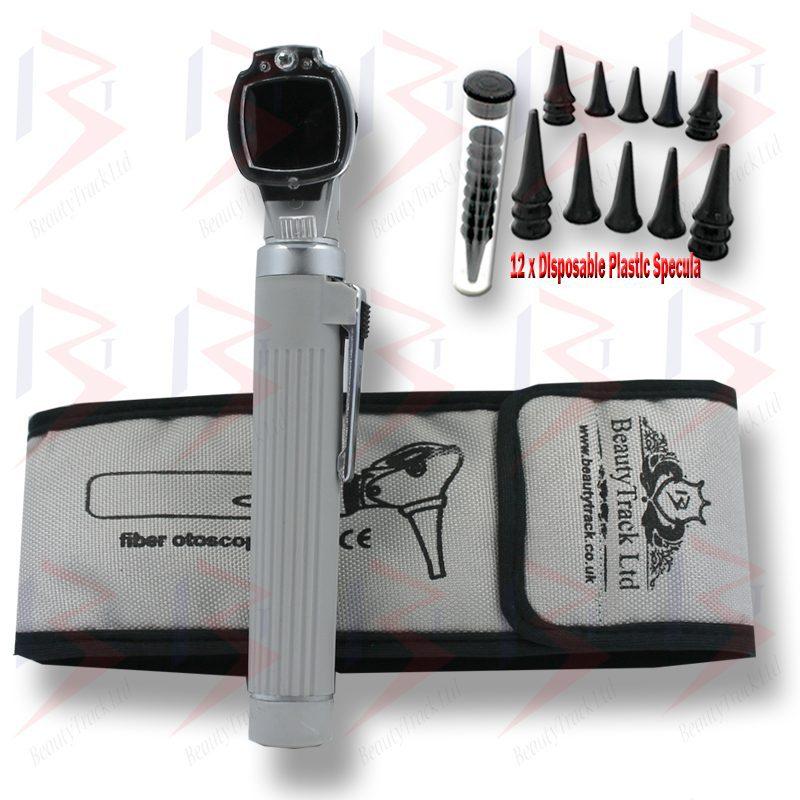 Fiber Mini Otoscope Pocket Examintaion Optic Medical Diagnostic Grey 2
