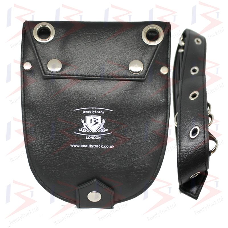 Holster Pouch Barber Hiardressing Scissors Bag Black Leather 1