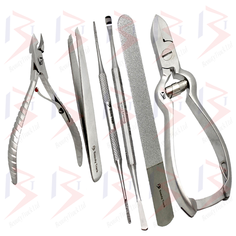 Thick Toe Nail Clippers Set Podiatry Nippers Cutter Kit