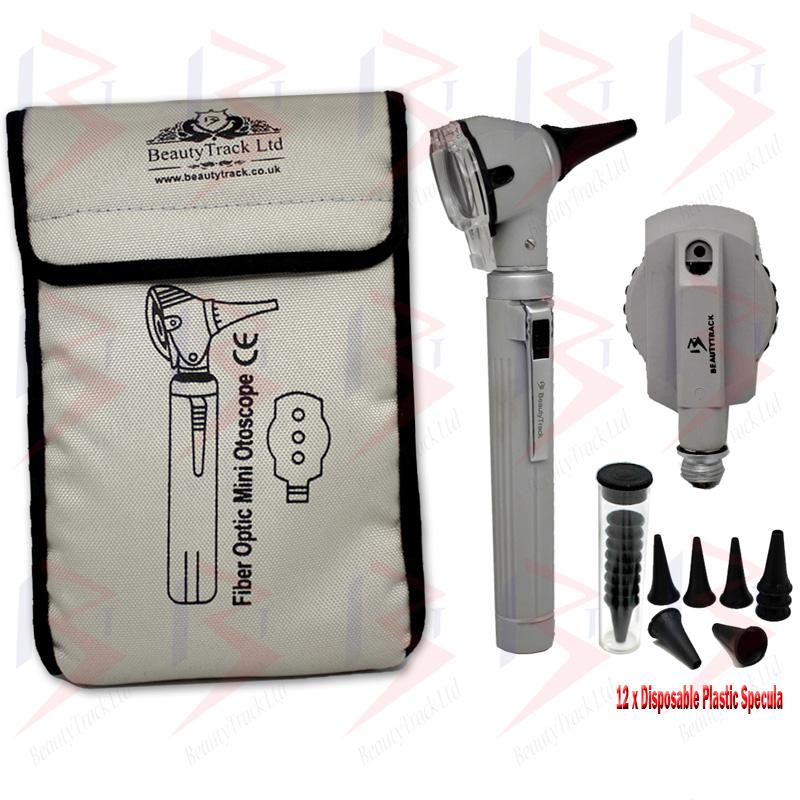 Otoscope Ophthalmoscope Led F.O Ent Diagnostic Examination Kit Grey - 1