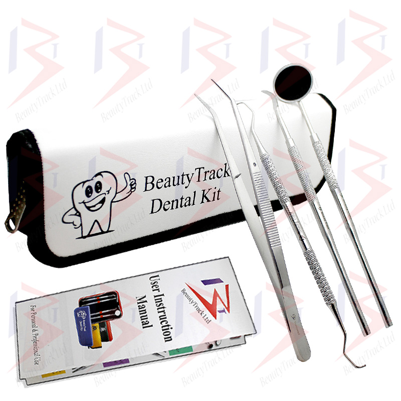 BeautyTrack Dental Dentist Scaler Set Tweezers Instruments Pick Tool Kit 2