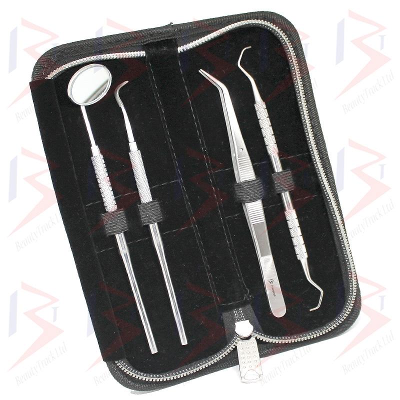 BeautyTrack Dental Dentist Scaler Set Tweezers Instruments Pick Tool Kit 3