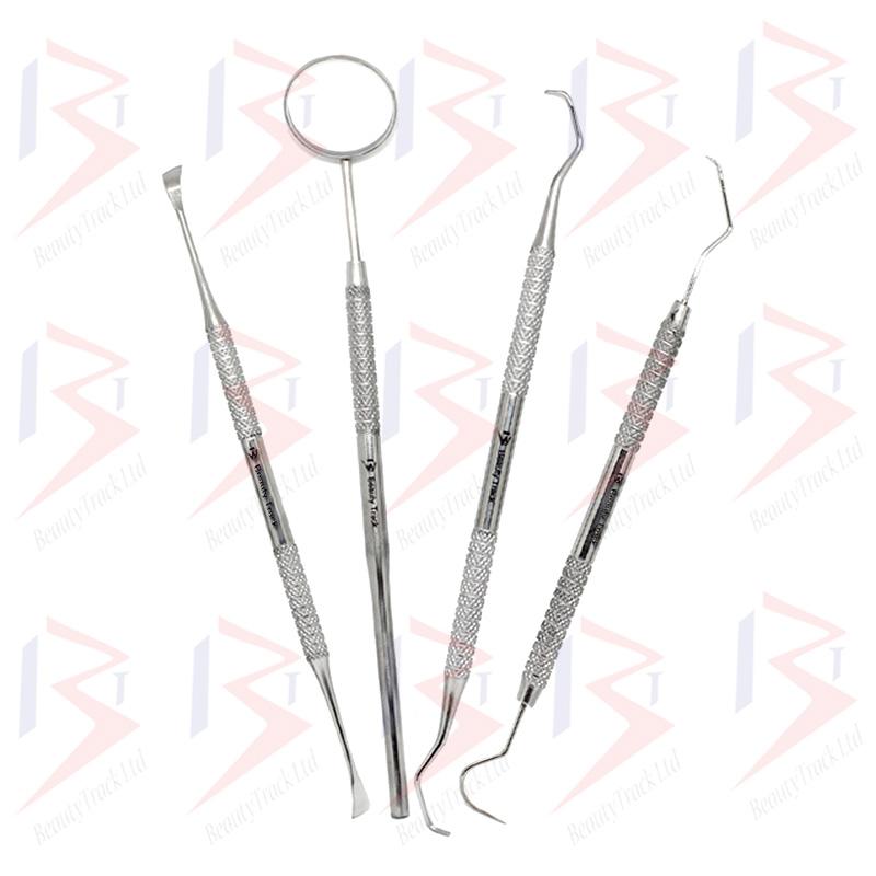 BeautyTrack Dental Mirror Scaler Set Tooth Picks Scraper Cleaning Kit 2