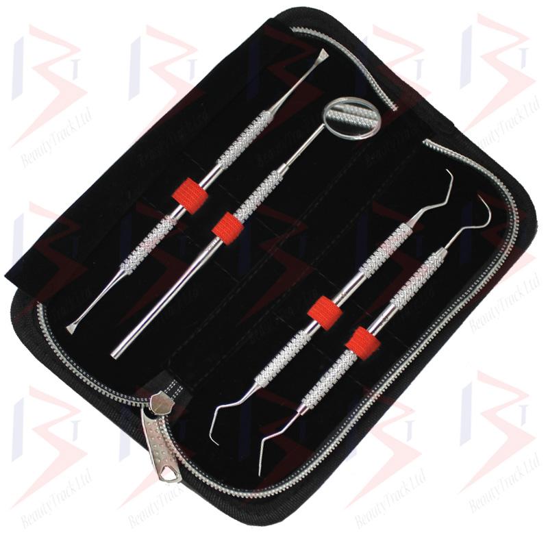 BeautyTrack Dental Mirror Scaler Set Tooth Picks Scraper Cleaning Kit 3