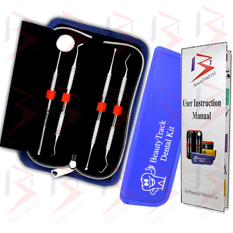 BeautyTrack Dental Oral Kit Scaler Probe Pick Set Mirror Steel Tools 2
