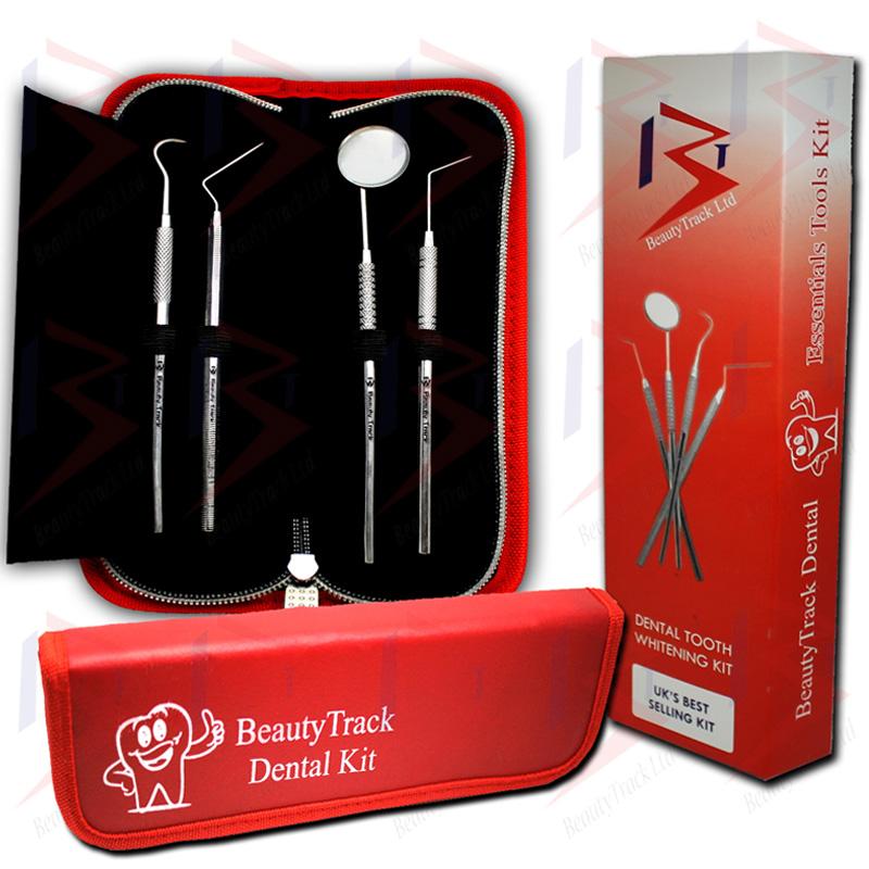 BeautyTrack Dental Scaler Probes Pick Set Mouth Mirror Steel Tool Kit 1