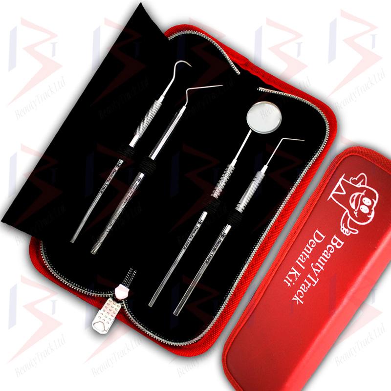 BeautyTrack Dental Scaler Probes Pick Set Mouth Mirror Steel Tool Kit 2