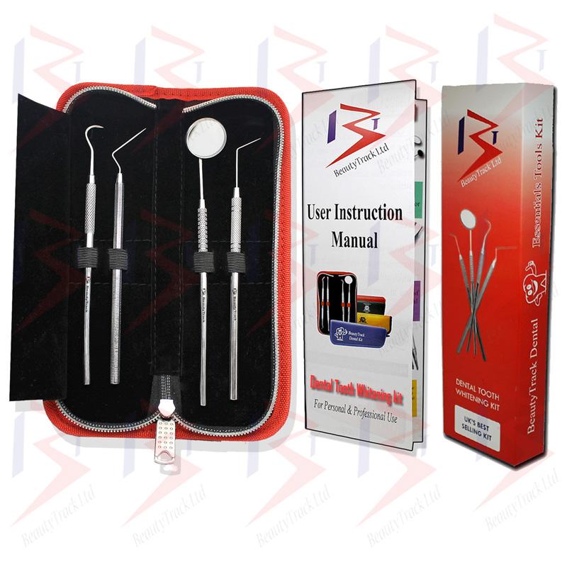 BeautyTrack Dental Scaler Probes Pick Set Mouth Mirror Steel Tool Kit 3