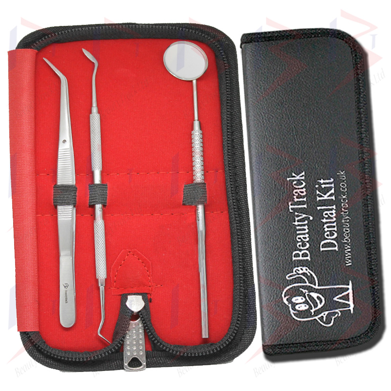 BeautyTrack Dentist Teeth Oral Clean Kit Probe Tweezers Tools Set 1