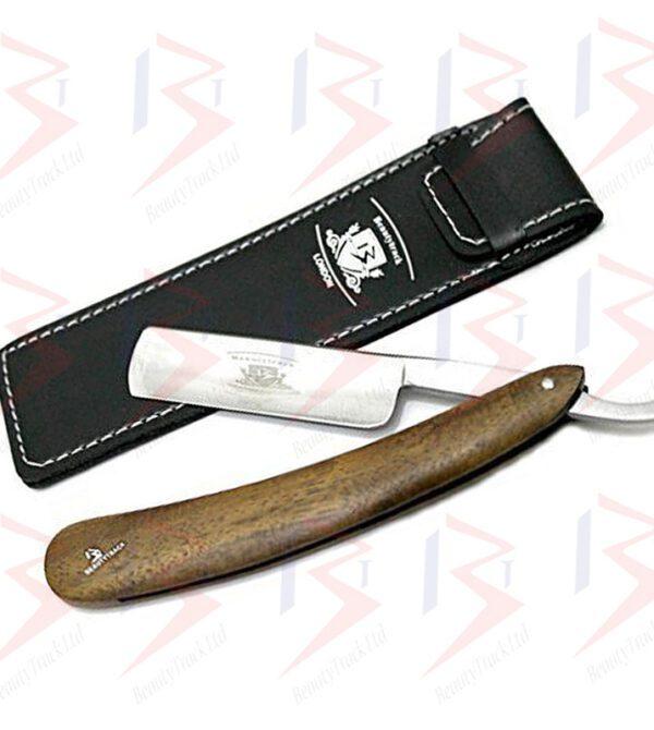 BeautyTrack Men Shaving Razor Straight Cut Throat Razors Wood Handle 1