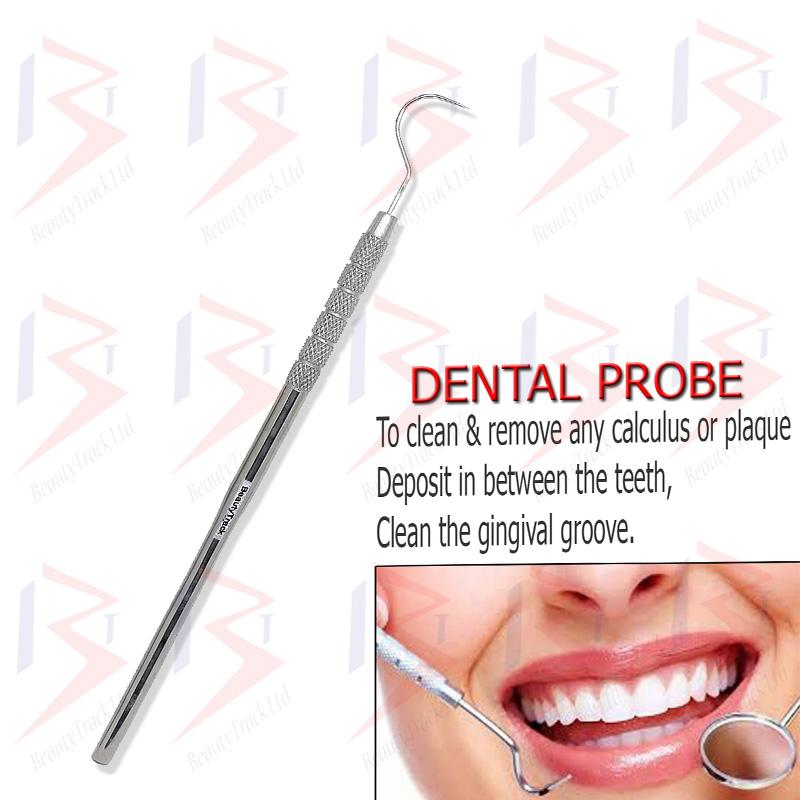 BeautyTrack Stainless Steel Dental Set Dentist Teeth Oral Clean Kit 3