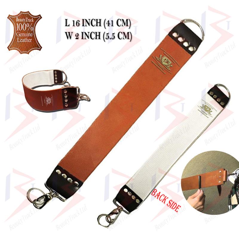 BeautyTrack Straight Cut Throat Razor Set Brown Leather Strop Belt 5