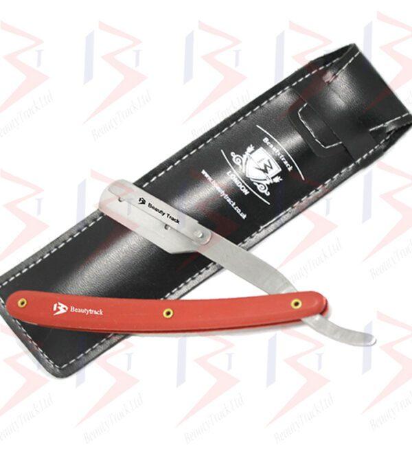 BeautyTrack Barber Salon Straight Cut Throat Shaving Razor Red 1