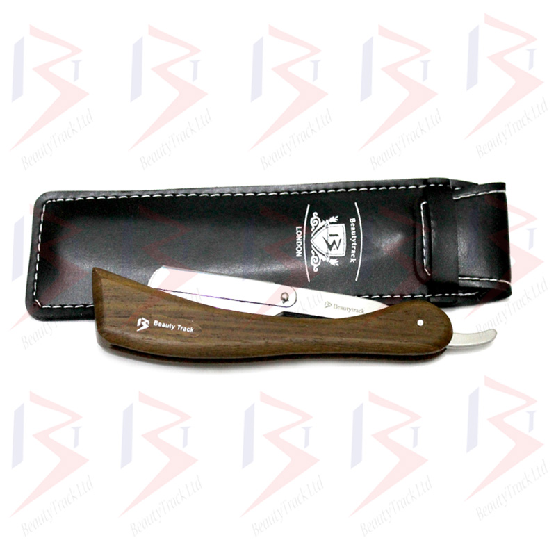 BeautyTrack Barber Salon Straight Cut Throat Shaving Razor Wood Handle 2