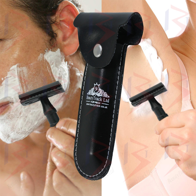 BeautyTrack Classic Safety Razor DE Stainless Steel Black 5