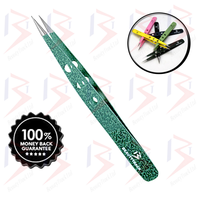 BeautyTrack Eyebrow pointed Tweezers Hair Beauty Sharp Tweezer