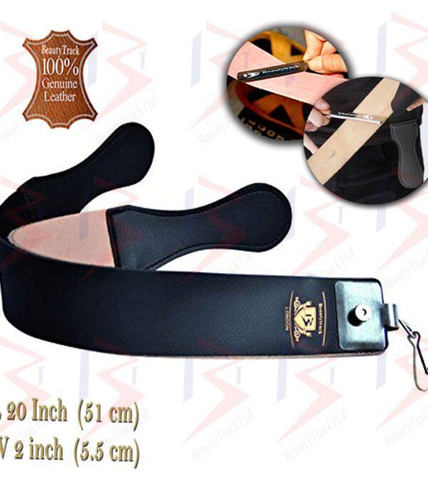 BeautyTrack Genuine Leather Sharpening Strop Strap Shaving Razor Belt Black 1